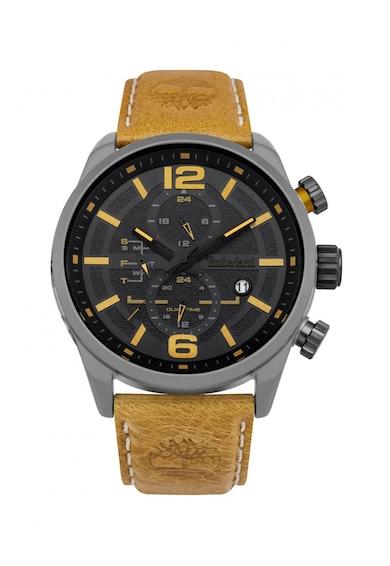 Timberland Ceas cronograf cu o curea de piele Henniker Barbati