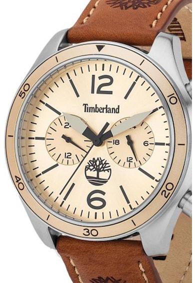 Timberland Ceas cronograf cu o curea de piele Gloucester Barbati