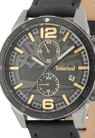 Timberland Ceas cronograf, cu o curea de piele Sagamore Barbati