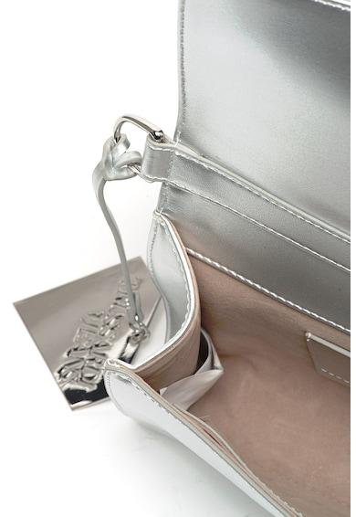 Trussardi Jeans Műbőr keresztpántos táska fémes hatással női