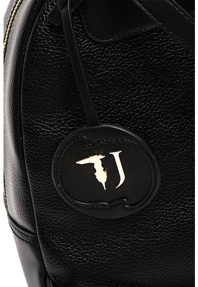 Trussardi Jeans Rucsac de piele ecologica, cu aplicatie logo Deco Femei