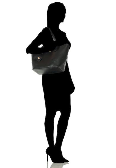 Trussardi Jeans Geanta de piele ecologica, cu bareta de umar Deco Edge Femei