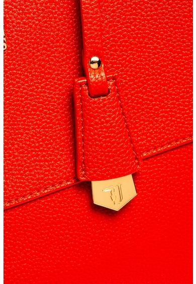 Trussardi Jeans Geanta de piele ecologica, cu bareta de umar si compartiment dublu Charlotte Femei
