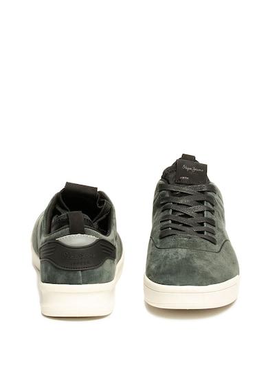 Pepe Jeans London Pantofi sport de piele intoarsa, cu perforatii BTN01 Barbati