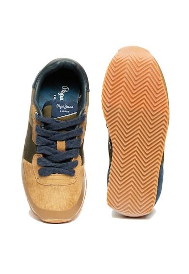 Pepe Jeans London Pantofi sport cu garnituri de piele intoarsa Garret Baieti