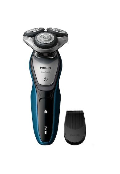 Philips Aparat de ras  S5420/06, lame MultiPrecision, umed si uscat, LED, accesoriu tuns, Negru Barbati