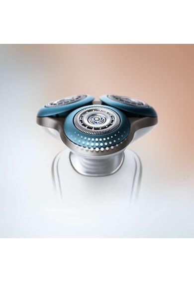 Philips Aparat de ras  S7510/41, Lame duble Super Lift & Cut, Sistem GentlePrecisio, LED, Acumulator, 3 capete, Rotire Dynamic Flex in 5 directii, Trimmer, Husa calatorie, Alb Barbati