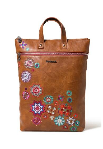 DESIGUAL Rucsac convertibil de piele ecologica cu broderie florala Femei