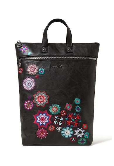 DESIGUAL Rucsac de piele ecologica cu broderie florala Femei