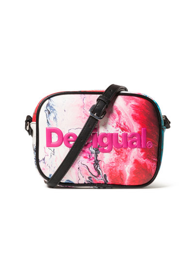 DESIGUAL Keresztpántos táska márványos mintával női