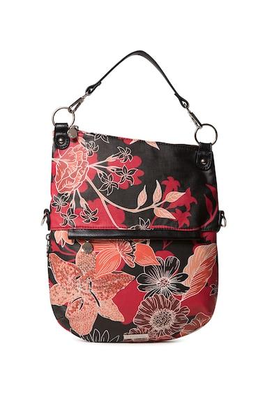 DESIGUAL Geanta crossbody de piele ecologica cu model floral Femei