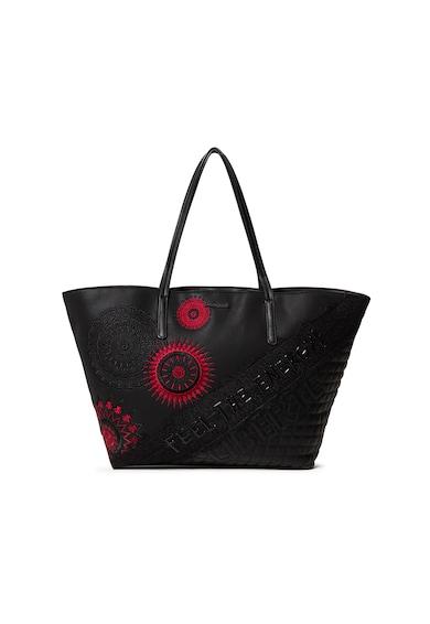 DESIGUAL Шопинг чанта от еко кожа с мандала Жени