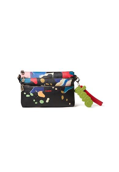DESIGUAL Absztrakt mintás keresztpántos műbőr táska női