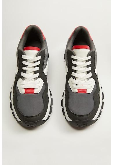 Mango Pantofi sport cu garnituri de piele ecologica Duncan Femei
