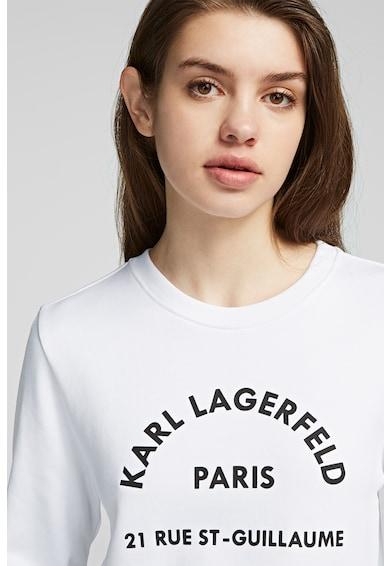 Karl Lagerfeld Logómintás kerek nyakú pulóver női