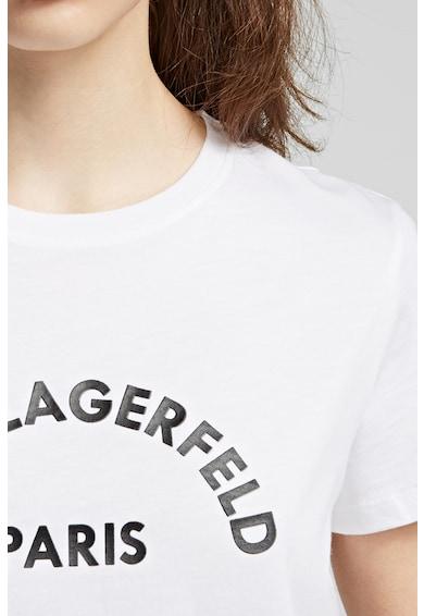 Karl Lagerfeld Tricou din bumbac cu imprimeu logo Femei