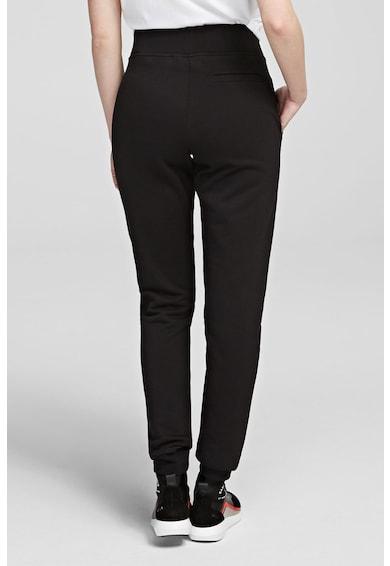 Karl Lagerfeld Pantaloni sport din bumbac, cu banda lata in talie Femei