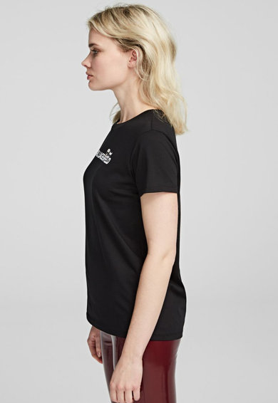 Karl Lagerfeld Tricou de bumbac, cu imprimeu logo Ikonik Femei