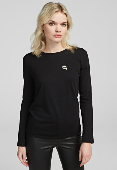 Karl Lagerfeld Bluza cu aplicatie logo Ikonik Femei
