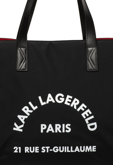 Karl Lagerfeld Geanta duffle cu imprimeu logo Rue St. Guillaume Femei