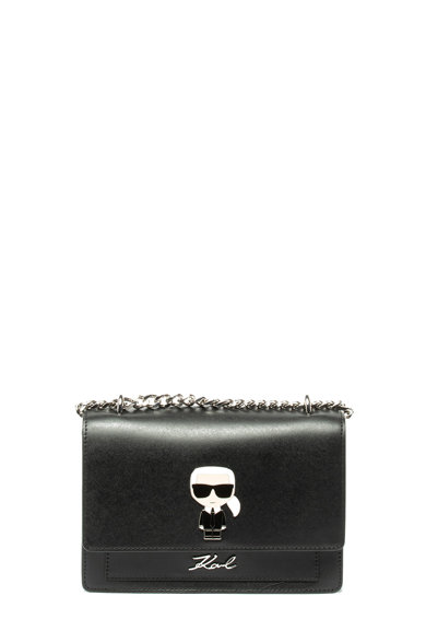 Karl Lagerfeld Geanta crossbody de piele cu bareta din lant Femei