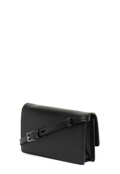 Karl Lagerfeld Geanta crossbody convertibila Ikonik Pin Flat Femei