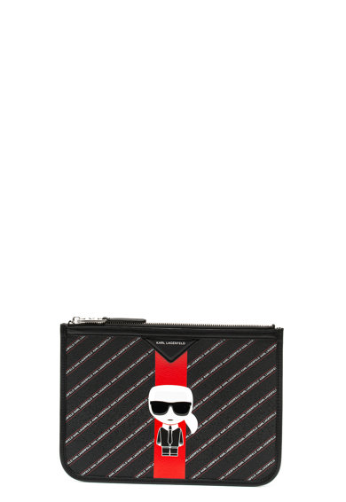 Karl Lagerfeld Etui cu imprimeu logo Stripe Ikonic Femei