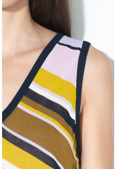 Ted Baker Раирана блуза Leannah с шпиц деколте Жени