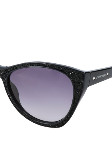 Swarovski Ochelari de soare cat-eye cu rama cu cristale Swarovski® Femei