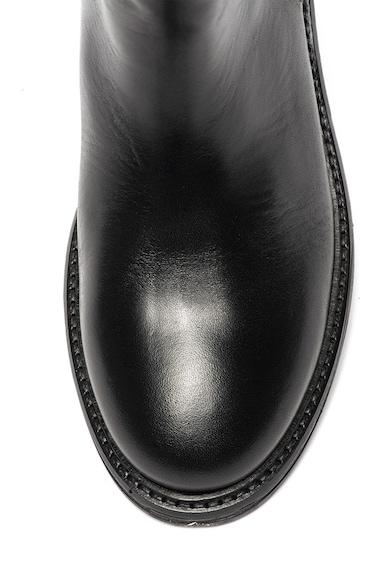 Trussardi Jeans Rövid szárú bőrbakancs dekoratív csatokkal női