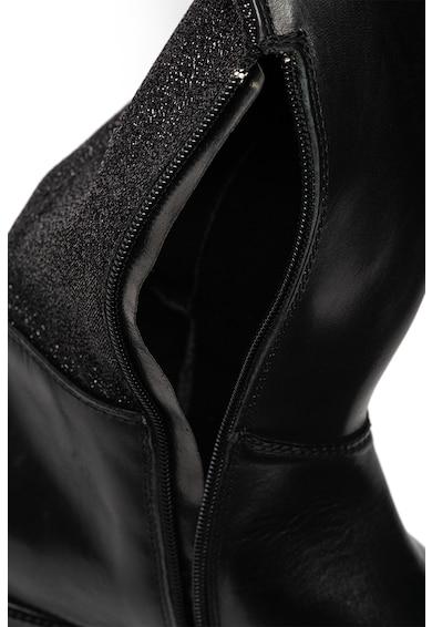 Trussardi Jeans Cizme de piele lungi peste genunchi cu insertii stralucitoare Femei