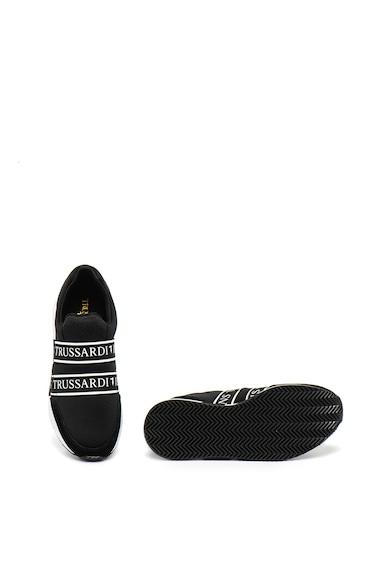 Trussardi Jeans Велурени спортни обувки с лого, за бягане Жени