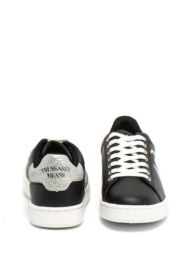 Trussardi Jeans Спортни обувки от еко кожа с бляскави детайли Жени