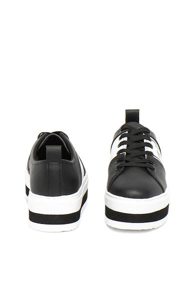 Trussardi Jeans Pantofi sport flatform de piele ecologica Femei