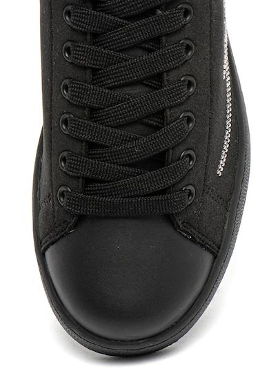 Trussardi Jeans Pantofi sport de piele ecologica si piele intoarsa ecologica, cu aplicaiti Femei