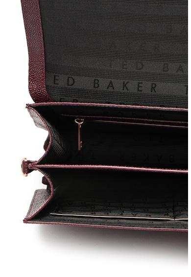 Ted Baker Geanta de piele cu aspect texturat, bareta pentru umar si detaliu funda Joaan Femei