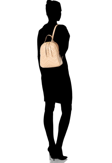 Antonia Moretti Rucsac de piele cu cusaturi decorative Femei