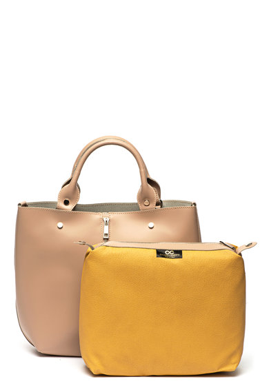 Chiara Canotti Кожена чанта с декоративен цип отпред Жени