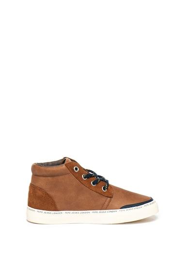 Pepe Jeans London Pantofi sport mid-high cu insertii de piele Traveler Fete