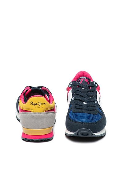 Pepe Jeans London Pantofi sport de piele ecologica cu model colorblock Sydney Fete