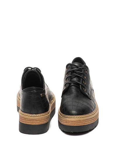 Pepe Jeans London Pantofi de piele ecologica cu model de piele de reptila Luton Femei