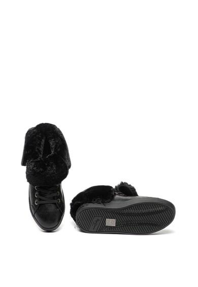 Pepe Jeans London Pantofi sport de piele ecologica, cu captuseala de blana sintetica Brixton Femei