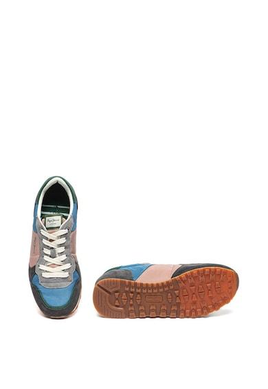 Pepe Jeans London Pantofi sport cu model colorblock si garnituri de piele intoarsa Verona Traveller Femei