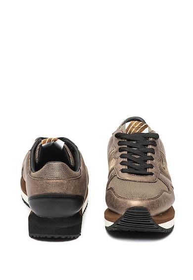 Pepe Jeans London Pantofi sport flatform cu insertii de piele ecologica Zion Femei