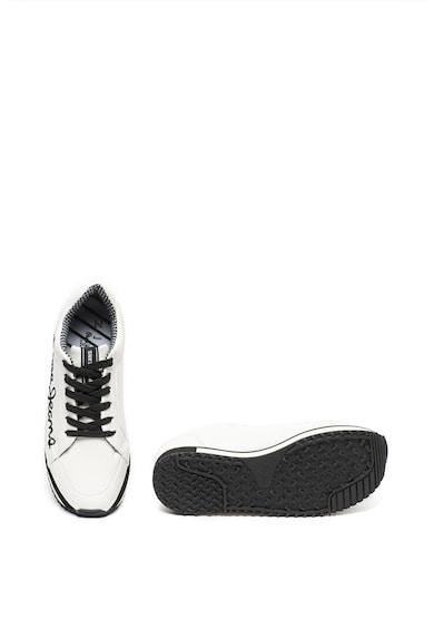 Pepe Jeans London Pantofi sport wedge de piele ecologica, cu logo Zion Femei