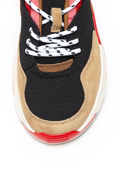 Pepe Jeans London Pantofi sport de plasa cu garnituri de piele intoasa Sinyu Femei
