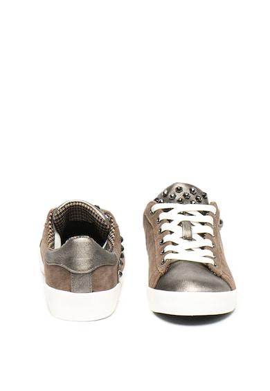 Pepe Jeans London Pantofi sport din piele intoarsa cu detalii de piele ecologica Kioto Rock Femei