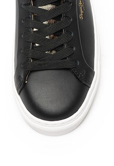 Pepe Jeans London Pantofi sport de piele peliculizata Adams Premium Femei