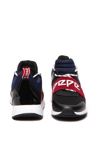 Pepe Jeans London Pantofi sport slip-on cu insertii de piele ecologica Koko Archi Femei