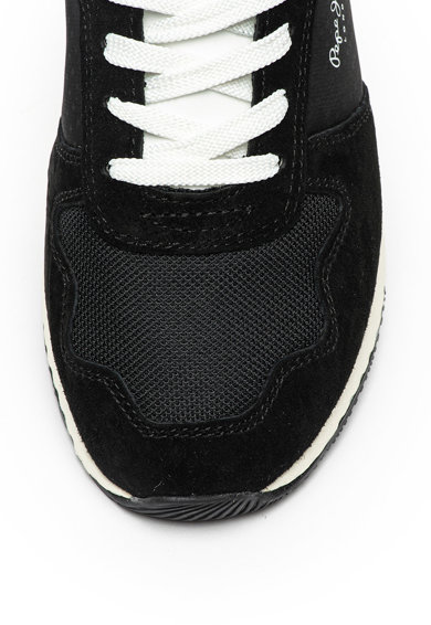 Pepe Jeans London Pantofi sport cu garnituri stralucitoare si de piele intoarsa Koko Femei
